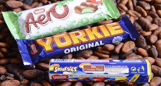 Nestlé UK & Ireland to be First Major Confectionery Company to Source 100% Sustainable Cocoa