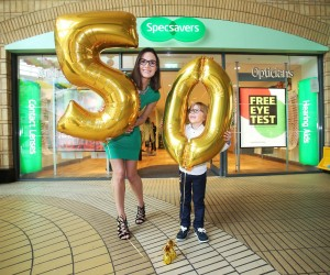 NO REPRO FEE 24/3/2016. Model mum and wellbeing expert, Alison Canavan together with her son James officially opened Specsavers 50th Irish store in Ashleaf Shopping Centre,Crumlin today, creating 8 new jobs. Speaking at the opening, Store Director Edwina McKinney comments We are delighted to have reached the major milestone of opening the 50th Specsavers in Ireland. Photo: Leon Farrell/Photocall Ireland.