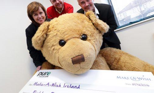 Pure Telecom Raises €85,000 for Make-A-Wish Ireland